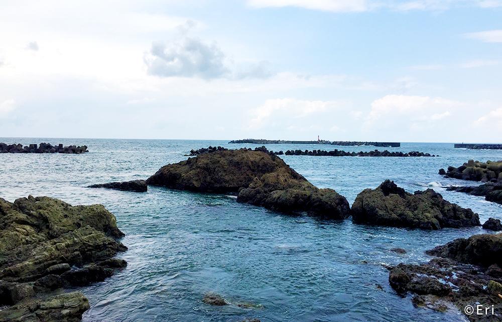 水族館近くの海岸