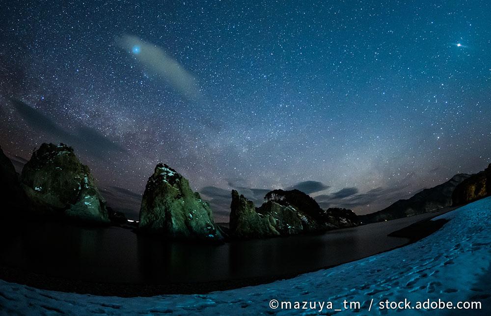 浄土ヶ浜 夜空